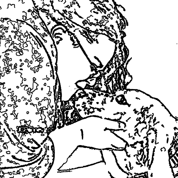 ReallyColor - Doggy Kiss Coloring Page