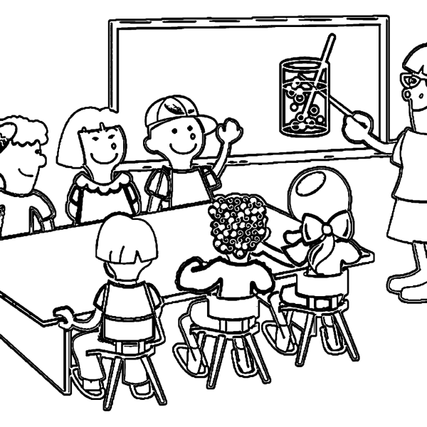ReallyColor - Teacher Coloring Page