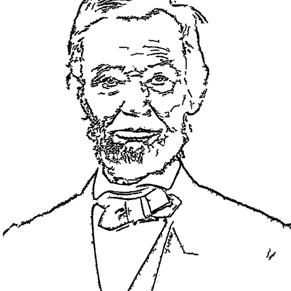 ReallyColor - Abraham Lincoln President Coloring Page