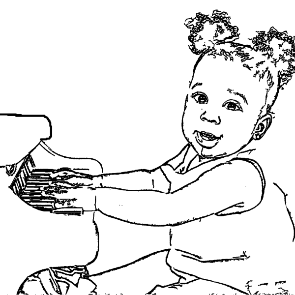 ReallyColor Hall Of Fame - Piano Girl Coloring Page