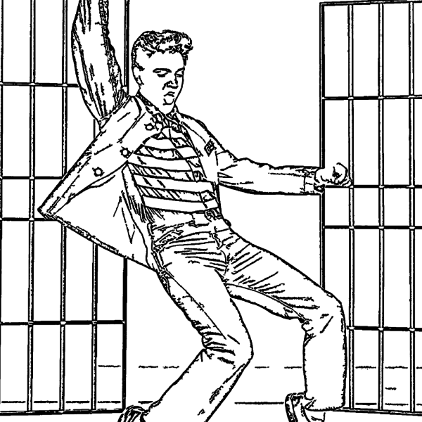 ReallyColor - Dancing King Coloring Page